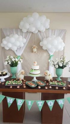 Super Ideas baby shower desserts table gender neutral – Baby Shower Ideas for Girls – Grandcrafter – DIY Christmas Ideas ♥ Homes Decoration Ideas Cadeau Baby Shower, Deco Baby Shower, Shower Party, Baby Shower Parties, Baby Boy Shower, Baby Shower Gifts, Cloud Baby Shower Theme, Lamb Baby Showers, Shower Games