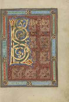 about Tempera colors, gold, and silver on parchment bound between pasteboard covered with brown calf; Leaf: × cm × 6 in. Ludwig II 3 J. Illuminated Letters, Illuminated Manuscript, Carolingian, Getty Museum, Tempera, Medieval, Germany, Objects, Carpets