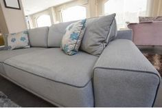How to Clean a Sofa Made of Polyester Fibers. (Ikea sectional couch, from Hollow fiber polyester wadding material) Fabric Couch Cleaner, Clean Fabric Couch, Fabric Sofa, How To Clean Couches, Diy Sofa, Sofa Upholstery, Cushions On Sofa, Homemade Sofa, Ikea Sectional