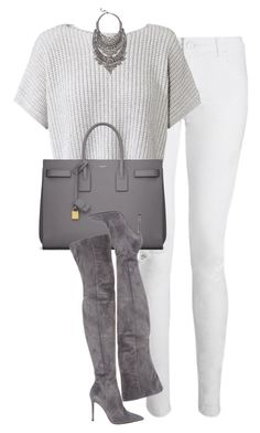 """Untitled #1148"" by lovetaytay ❤ liked on Polyvore featuring Whistles, Yves Saint Laurent, Gianvito Rossi and DYLANLEX"