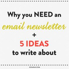 If you're creating products or building a blog or business, an email list is one of the most important things have!