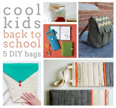 5 DIY Back-To-School Bags