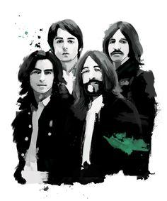 Die Beatles, Tinted Style | http://www.yourpainting.de/motive-artikel/the-beatles