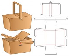 Discover thousands of Premium vectors available in AI and EPS formats Diy Gift Box, Diy Box, Wedding Gift Bags, Wedding Favors, Party Favors, Bottle Box, Box Patterns, Paper Crafts Origami, Paper Toys