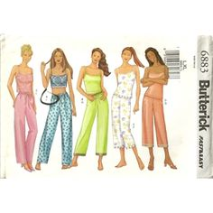 Butterick 6883 Misses Cami Camisole & Pants Sewing Pattern Plus Size 16 - 18 - 20 - 22