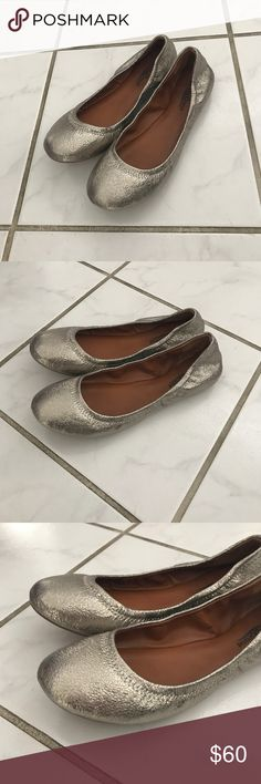 🌈Closet Clear Out! LuckyBrand flats in gold, new. LuckyBrand Emmie ballet flats in gold. Classic style and color to dress up any outfit. New, never worn. Stickers are still on soles. Without box. Size 7.5. Recommended for a size 7. Lucky Brand Shoes Flats & Loafers