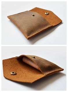 Genuine Leather Handmade Mini Miniature Mens Wallet Money Id Credit Cards Holder Case Compact Retro sold by Senger Leather Bag. Shop more products from Senger Leather Bag on Storenvy, the home of independent small businesses all over the world. Diy Leather Stamp, Leather Gifts, Leather Bags Handmade, Leather Wallet Pattern, Diy Wallet, Credit Cards, Cowhide Leather, Men's Leather, Men's Briefcase