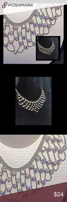 """Stunning Necklace Bold yet subtle necklace. This necklace really shows off in the light with the chain beading.. 20"""" with an adjustable clasp. Macy's Jewelry Necklaces"""