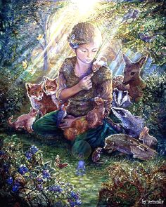 Metaverse Forest Friends by Josephine Wall Canvas Art Josephine Wall, Canvas Artwork, Canvas Wall Art, Canvas Canvas, Art Expo, Photo D Art, Forest Creatures, Forest Friends, Fantasy Art