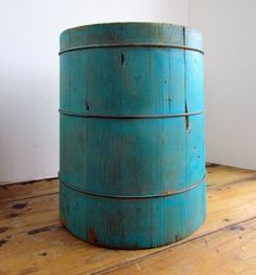 I would love to have this in my collection...antique double measure in robin's egg blue
