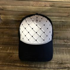 09846f76 Quilted Hat, Embellishment Hats, Gray Caps, Embellishment Caps, Trucker Hats,  Bling Hats, Bling Caps, Black Hats, Rhinestone Crown by  Stylishvintagedesign ...