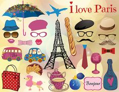 Instant Download Paris Inspired Photo Booth by OneStopDigital, $5.99