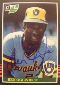 Find the best deal on Ben Oglivie autographed items for your collection of Sports, Baseball memorabilia. Tiger Stadium, Autographed Baseballs, Milwaukee Brewers, Detroit Tigers, Boston Red Sox, Major League, Trading Cards, All Star, Mlb