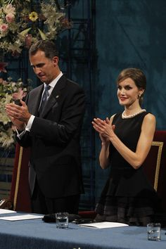 Royals & Fashion - Royals & Fashion - King Felipe, Queen Letizia and Queen Sophia attended the Princess of Asturias awards. The ceremony was held at the Theatre in Oviedo.