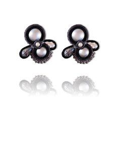 #Soutache #earrings, Soutache #jewerly, #handmade jewerly, #bijoux, #orecchini, #pendientes #fashion #design #madeinitaly - STARDUST EARRINGS