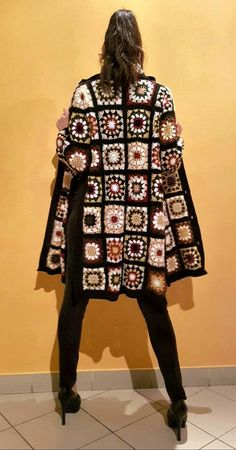 Crochet Boho Coat and matching scarf. Crochet clothing, organic clothing, handmade Crochet Boho Coat and matching scarf. Gilet Crochet, Crochet Coat, Crochet Jacket, Crochet Cardigan, Crochet Shawl, Crochet Clothes, Crochet Granny, Granny Square Sweater, Mode Mantel