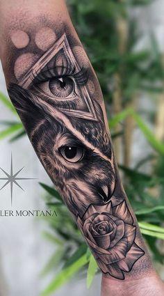 tattoo tattoo masculina The 200 Best Owl Tattoos Chicano Tattoos Sleeve, Forarm Tattoos, Forearm Sleeve Tattoos, Girls With Sleeve Tattoos, Tribal Sleeve Tattoos, Best Sleeve Tattoos, Tattoo Sleeve Designs, Body Art Tattoos, Girl Tattoos