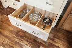 Give your pots and pans the TLC they need with this organizer! #KBIS2015 #wellborncabinet