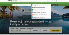 TTRIP ADVISOR - wyszukiwanie, kategorie, menue kontekstowe