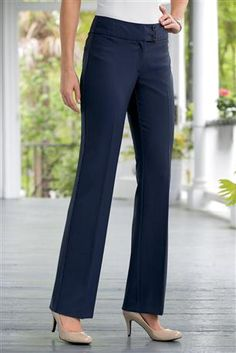 Shop Chadwicks of Boston for our Katherine Bootcut Pants. Browse our online catalog for more classic clothing, shoes & accessories to finish your look. Classic Outfits, Cute Outfits, Tall Pants, Passion For Fashion, Bell Bottom Jeans, New Look, Spring Fashion, Pants For Women, Plus Size