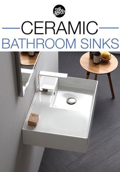 Shop ceramic bathroom sinks in many different shapes, sizes, and applications. Boho Bathroom, Bathroom Colors, Wall Mounted Bathroom Sinks, Vessel Sink, Vanity, Shapes, Ceramics, Dressing Tables, Ceramica