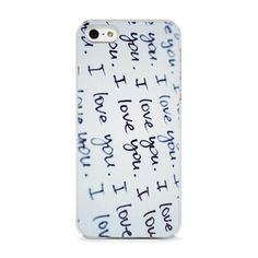 'I Love You' iPhone 5 Case.