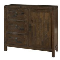 Powell Reclaimed 1 Door, 3 Drawer Storage Accent Chest 634-217