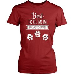 Are you an awesome dog mom or do you know one? This adorable shirt says Best Dog Mom Paws Down in white text and features three paw prints below. Best T Shirt Designs, Cute Dog Photos, Great T Shirts, Dog Shirt, Dog Harness, Tee Design, Dog Mom, Funny Dogs, Puppy Love