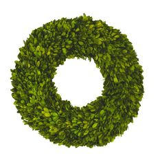 The single-sided preserved boxwood wreath. Add natural appeal to the entryway or kitchen with this preserved boxwood wreath, perfect for bringing an organic touch to your decor. For a festive touch at family meals, set this piece on the dining table and n