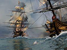 Battle at sea by pjero.deviantart.com on @deviantART