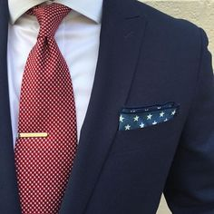 Gold Color Half Tie Bar with Red Polka Dot Tie