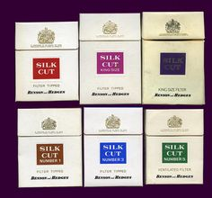 Silk Cut Cigarette packets, 70s by retrowow, via Flickr