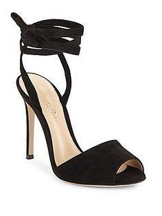 GIANVITO ROSSI TEXTURED LEATHER ANKLE STRAP SANDALS. #gianvitorossi #shoes #