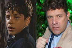 Sean Astin playing Mikey Walsh in The Goonies then and now