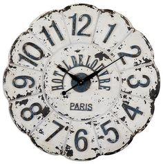 De Louvre Clock - Decorative Wall Clocks - Large Wall Clocks - Oversized Wall Clocks - Kitchen Wall Clocks - Rustic Wall Clocks - White Wall...