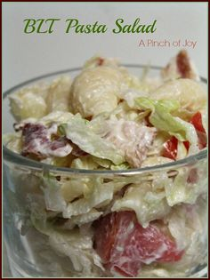 BLT Pasta Salad A Pinch of Joy