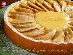 Crostata di mele e crema pasticcera-ricetta dolci-golosofia