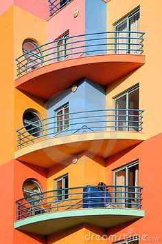 Photo about Colorful residential building in Albufeira in Algarve, Portugal. Image of europe, coast, bright - 21250445 Algarve, Beautiful Architecture, Architecture Details, Modern Architecture, Toronto Canada, Deconstructivism, Colourful Buildings, Voyage Europe, Home Again