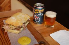 Meat and Bread's porchetta sandwich with Central City Brewing's Red Racer (photo: Kevin Wood) Chris Bradley, Central City, Craft Beer, Vancouver, Brewing, Restaurants, Sandwiches, Meat, Drink
