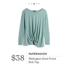 Stitch Fix: Papermoon Welington Knot Front Knit Top $38