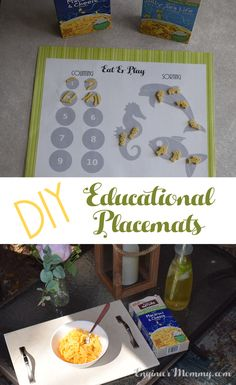 Click the picture to find out how to make these super fun DIY Educational Placemats for the kids! #BackToPlay ad