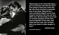 Johnny Cash quote on falling in love with June Carter Johnny Cash Lyrics, Johnny Cash Quotes, Johnny Und June, Johnny Cash June Carter, June Quotes, Country Quotes, Down South, Thats The Way, Hopeless Romantic