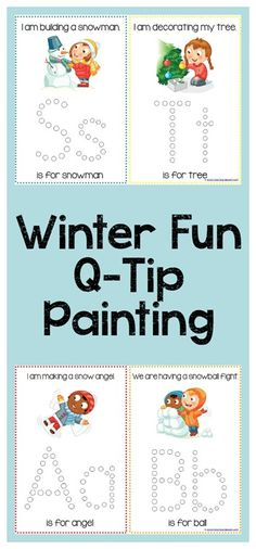 Winter Fun Q-Tip Painting Printables Check out: goo. Preschool Themes, Preschool Printables, Alphabet Activities, Preschool Kindergarten, Preschool Learning, Classroom Activities, Learning Activities, Preschool Activities, Winter Activities