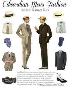 Men's Edwardian Fashion and Clothing Overview