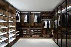 Porro - Salone del Mobile 2013  'storage' walk-in closet systems by Piero Lissoni. Handmade in Italy to fit any criteria.