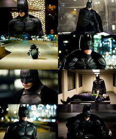 Christian Bale as The Dark Knight