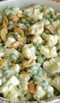 Crunchy Cauliflower and Cashew Salad
