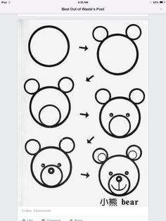Een cutie teddybeer tekenen in stappen