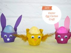 Are you getting ready for Easter?? Check out this #DIY Easter bunny egg carton craft you can do with your family! #Easter #DIY #bunnies #eggs #creative