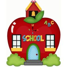 Silhouette Design Store - View Design #64923: school house apple pnc